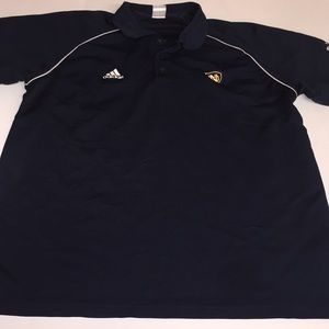 men's adidas Polo size LG navy and gold Notre Dame